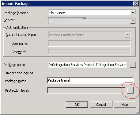 SSIS Import Package